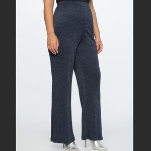 Eloquii Sparkle Pull On Wide Leg Pants 16 NEW Blue